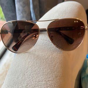 COACH Light Gold Dark Tortoise Sunglasses